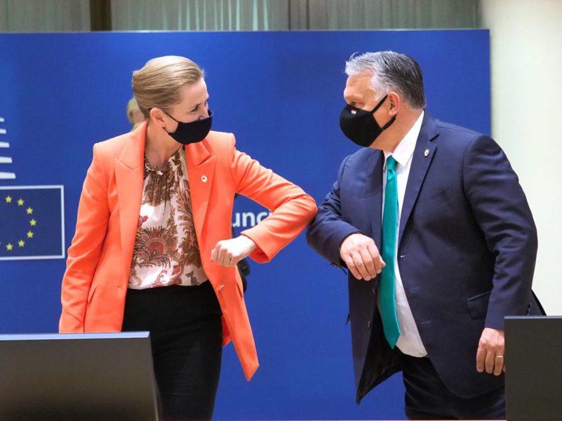 Mette Frederiksen, Première ministre danoise et Viktor Orban, Premier ministre hongrois