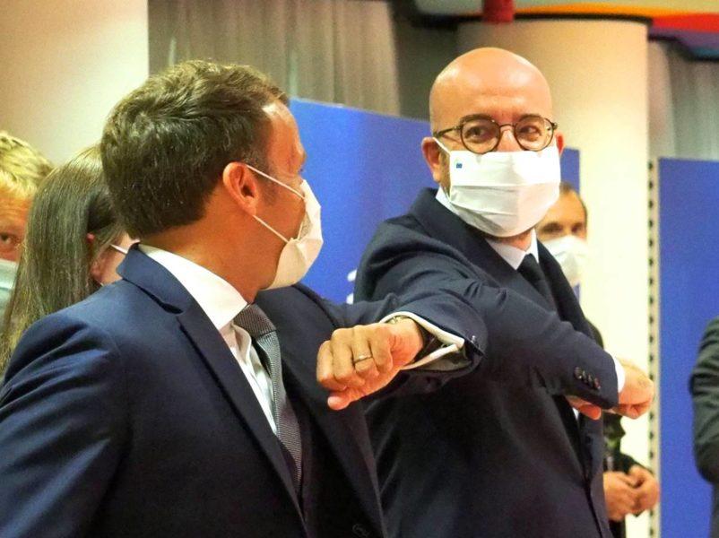 Emmanuel Macron, Président français, et Charles Michel, Président du Conseil européen